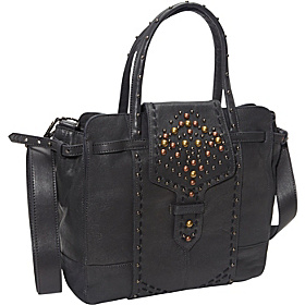 Molded Metals Clarisa Satchel Navy