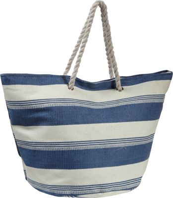 Earth Axxessories Striped Straw Tote