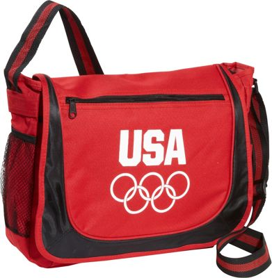 Extended Exposure Olympic Games Red Messenger Bag w/Matching Striped Handle