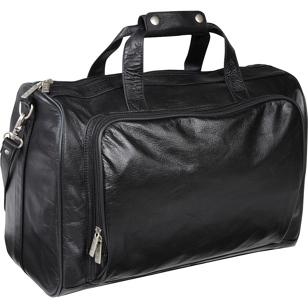 AmeriLeather 18-inch Leather Carry on Weekend Duffel Black - AmeriLeather Travel Duffels - Duffels, Travel Duffels