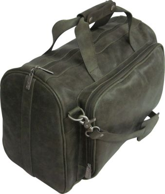 AmeriLeather 18-inch Leather Carry on Weekend Duffel Moss - AmeriLeather Travel Duffels