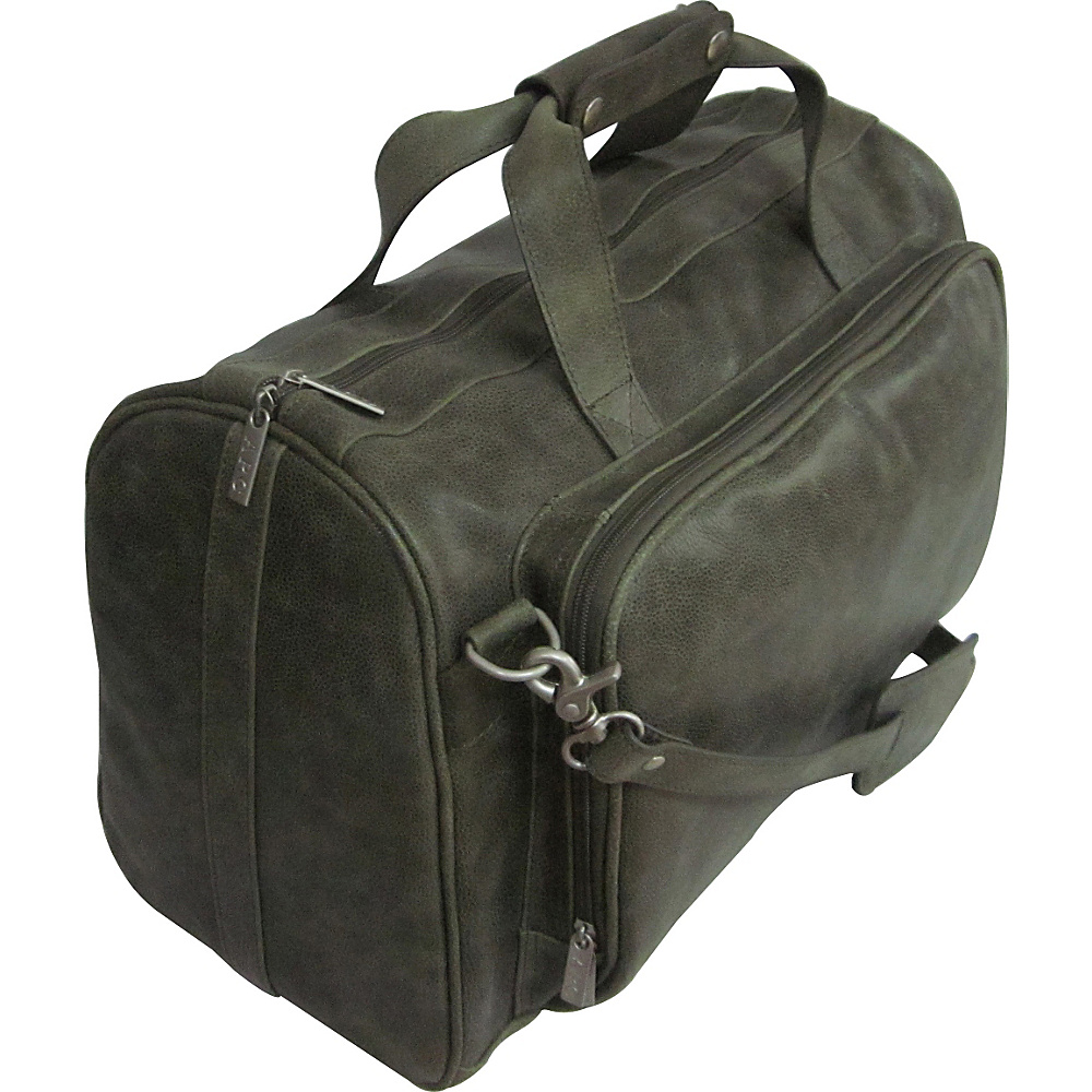 AmeriLeather 18-inch Leather Carry on Weekend Duffel Moss - AmeriLeather Travel Duffels - Duffels, Travel Duffels