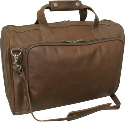 Image of AmeriLeather 18-inch Leather Carry on Weekend Duffel Toffee - AmeriLeather Travel Duffels