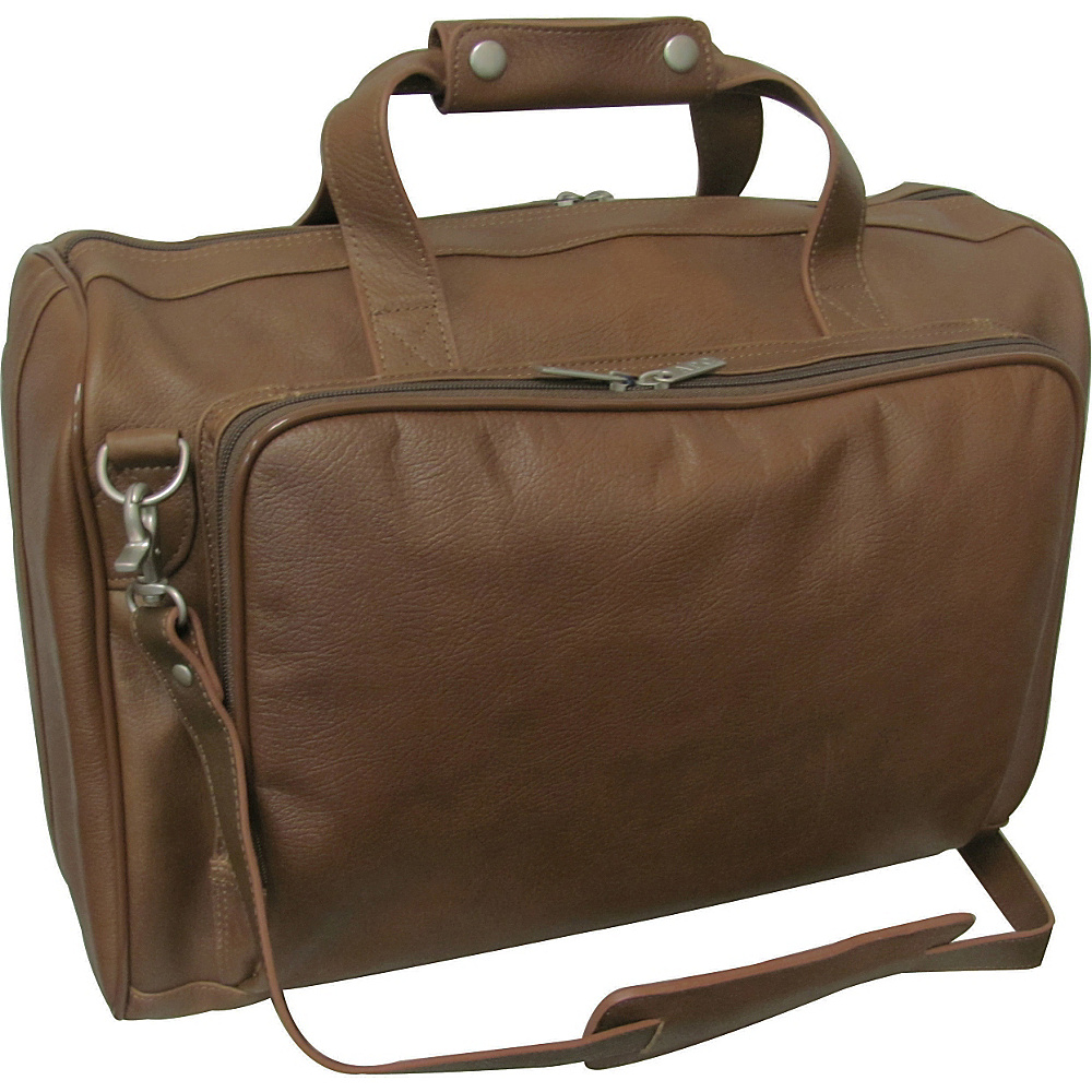 AmeriLeather 18-inch Leather Carry on Weekend Duffel Toffee - AmeriLeather Travel Duffels - Duffels, Travel Duffels