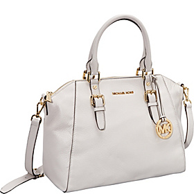 Bedford Large Top Zip Satchel Vanilla