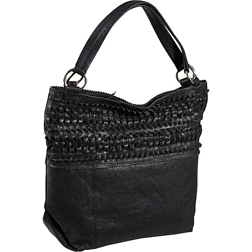 Roxbury Ike Woven Leather Tote Bag Graphite - Roxbury Leather Handbags