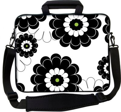 Designer Sleeves 13 inch Executive Laptop Sleeve by Got Skins? & Designer Sleeves Black Lime Floral - Designer Sleeves Electronic Cases