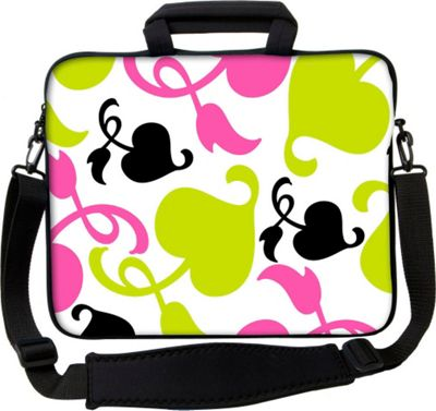 Designer Sleeves 13 inch Executive Laptop Sleeve by Got Skins? & Designer Sleeves Spring Pink and Lime - Designer Sleeves Electronic Cases