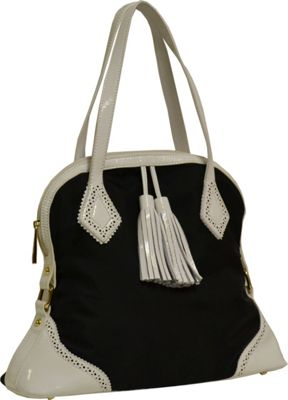 Tiffany & Fred Raphaela Black/White - Tiffany & Fred Fabric Handbags
