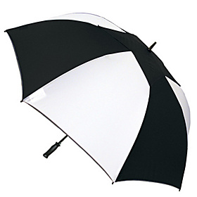 WindPro Elite Vented Auto Golf Umbrella - Alternating Panels White/Black