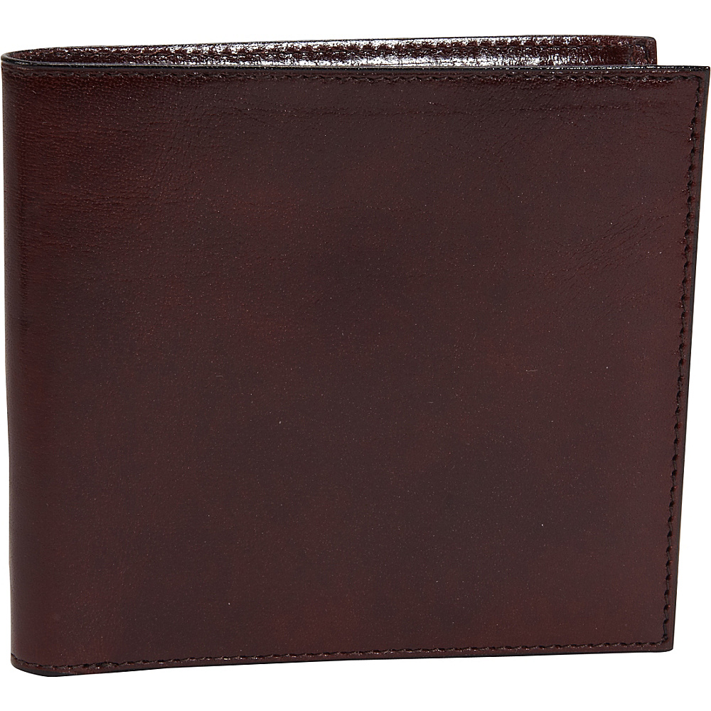Bosca Old Leather ID Hipster Credit Card Wallet Dark Brown - Bosca Men's Wallets