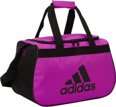 adidas Diablo Small Duffel Limited Edition Colors- Exclusive Flash Pink / Black - adidas Gym Duffels