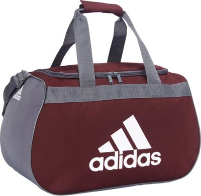 adidas Diablo Small Duffel Limited Edition Colors- Exclusive Maroon / Onix / White - adidas Gym Duffels