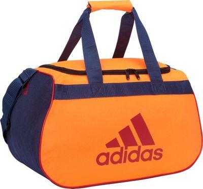 adidas Diablo Small Duffel Limited Edition Colors Glow Orange/Collegiate Navy - adidas All Purpose Duffels