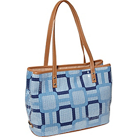 Vegas Photo Print Tote Med Bright Cobalt