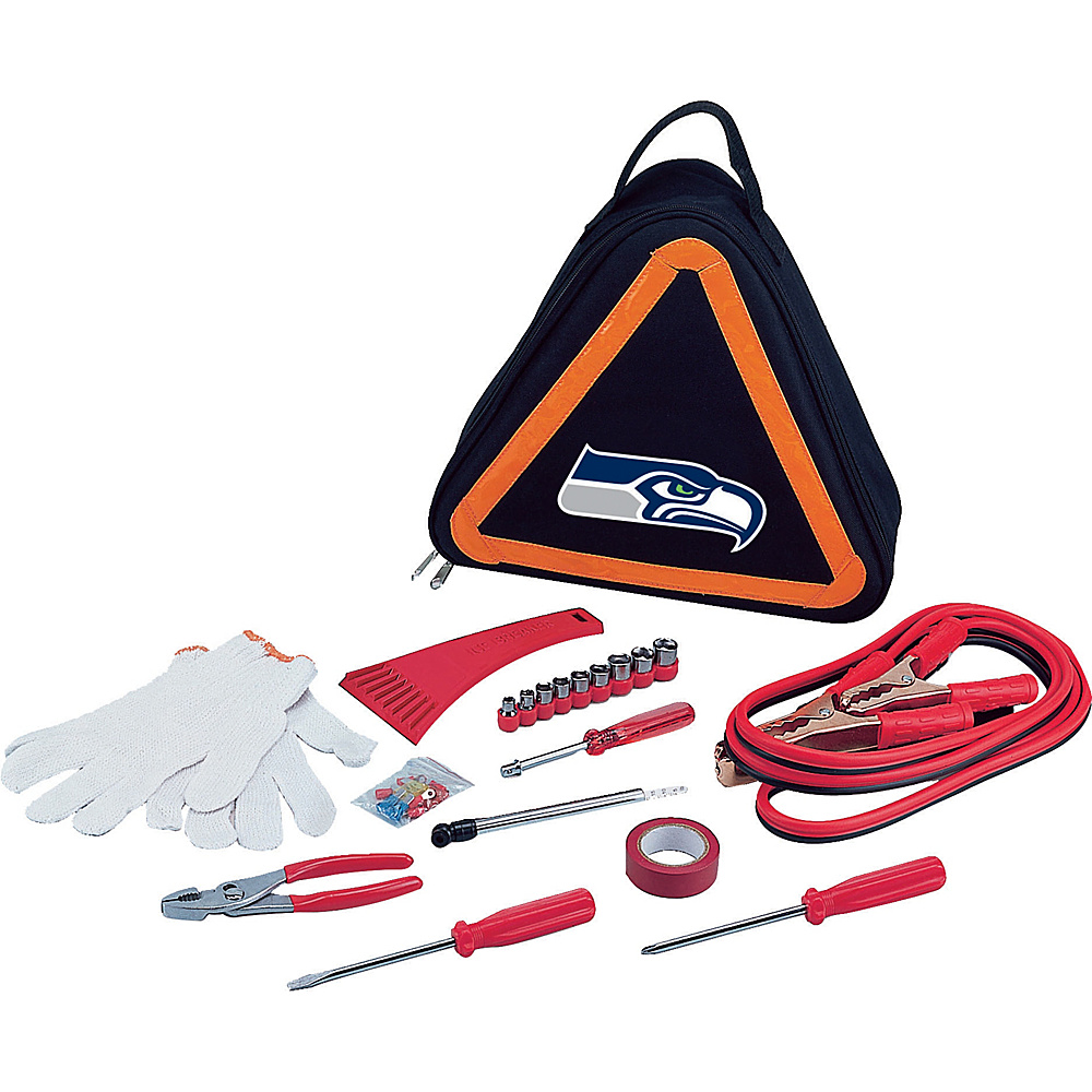 Picnic Time Seattle Seahawks Roadside Emergency Kit Seattle Seahawks - Picnic Time Trunk and Transport Organization - Travel Accessories, Trunk and Transport Organization