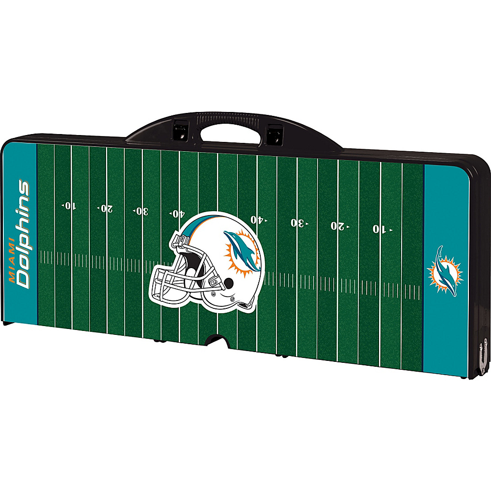 Picnic Time Miami Dolphins Picnic Table Sport Miami Dolphins Black - Picnic Time Outdoor Accessories - Outdoor, Outdoor Accessories