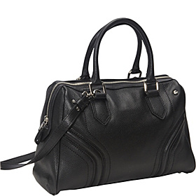 Zoey Pebble Satchel Black