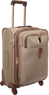 London Fog Chelsea Lites Expandable 360 Upright Luggage - 21 inch Olive Plaid - London Fog Softside Carry-On