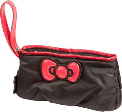 Hello Kitty Golf Hello Kitty Diva  inchBow inch Pouch Black/Red - Hello Kitty Golf Manmade Handbags