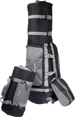 Samsonite Golf Travel Deluxe 3 Piece Golf Travel Set Silver - Samsonite Golf Travel Golf Bags