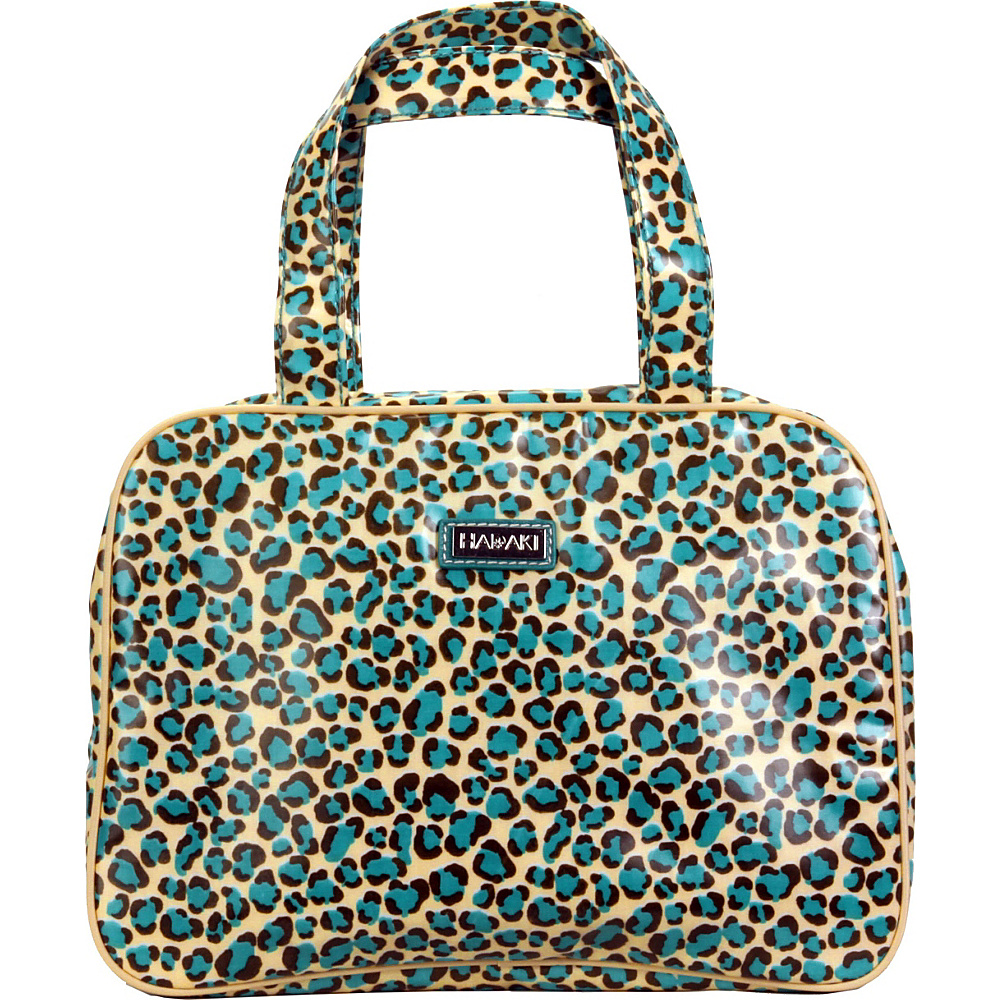 Hadaki Coated Makeup Case Pod Primavera Cheetah - Hadaki Toiletry Kits - Travel Accessories, Toiletry Kits