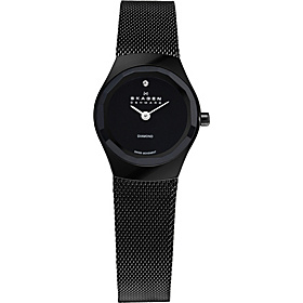 Black Steel Mesh Women's Watch Black