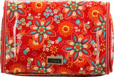 Image of Hadaki Coated Toiletry Pod Roll-up Primavera Floral - Hadaki Toiletry Kits