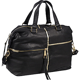 Andrej Convertible Satchel Black Metallic