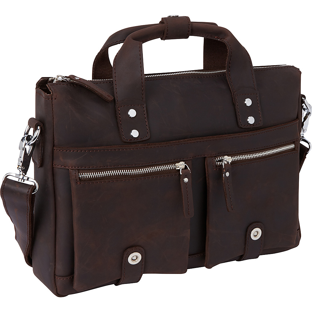 Vagabond Traveler 15 TREKKER CLassic Leather Brief Dark Brown Vagabond Traveler Non Wheeled Business Cases