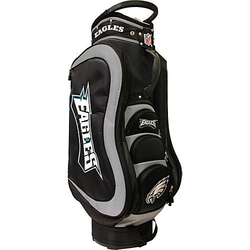 team-golf-nfl-philadelphia-eagles-medalist-cart-bag-teal-team-golf-golf-bags