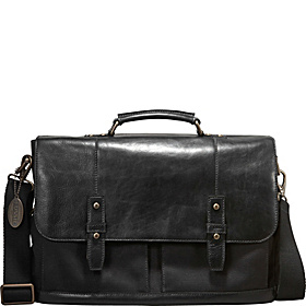 Dillon EW Leather Messenger Black