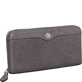 Large Zip Wallet Charcoal
