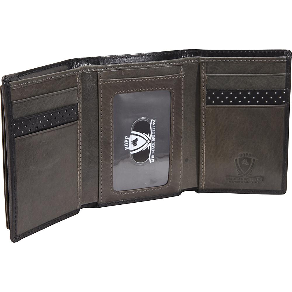 Dopp RFID Black Ops I.D. Three-Fold Wallet Black - Dopp Men's Wallets