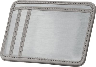 Stewart Stand RFID Blocking 3 Slot Stainless Steel Wallet w/ID - Leather Accent Grey Leather - Stewart Stand Men's Wallets