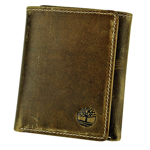 Timberland Wallets Mt. Washington Leather Trifold Wallet Tan - Timberland Wallets Mens Wallets