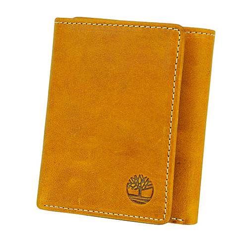 Timberland Wallets Mt. Washington Leather Trifold Wallet Gold - Timberland Wallets Mens Wallets