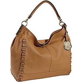 Kat Hefner Leather Satchel Sand