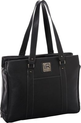 Kenneth Cole Reaction Hit A Triple Compartment 15 inch Laptop Business Tote Black - Kenneth Cole Reaction Women's Business Bags