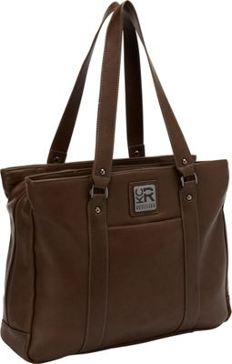 Kenneth Cole Reaction Hit A Triple Compartment 15 inch Laptop Business Tote Brown - EXCLUSIVE - Kenneth Cole Reaction Women's Business Bags