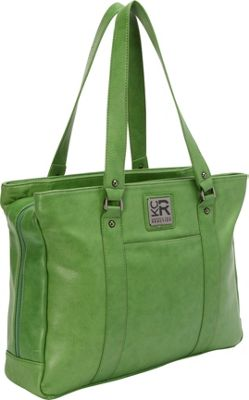 Kenneth Cole Reaction Hit A Triple Compartment 15 inch Laptop Business Tote Kelly Green - EXCLUSIVE - Kenneth Cole Reaction Women's Business Bags