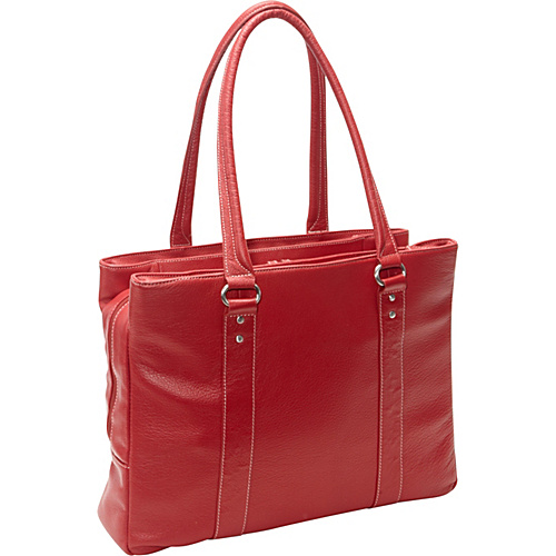 eBags Laptop Collection Soho Triple Zip Leather Laptop Tote Red - eBags Laptop Collection Ladies' Business