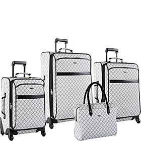 Signature Spinner 4 Piece Luggage Set Gray