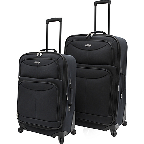 U.S. Traveler Fashion 2 Piece Spinner Luggage Set Charcoal - U.S. Traveler Luggage Sets