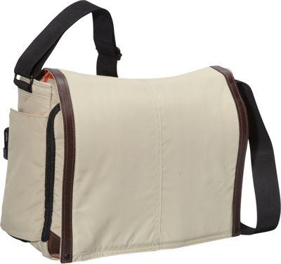 Derek Alexander Large Full Flap Double Zip Tan - Derek Alexander Messenger Bags