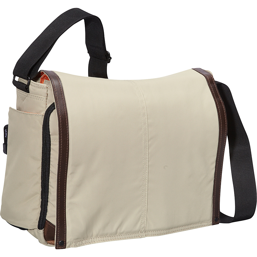 Derek Alexander Large Full Flap Double Zip Tan - Derek Alexander Messenger Bags - Work Bags & Briefcases, Messenger Bags
