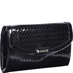 Magic Mirror Clutch Black Grey Metallic/Black