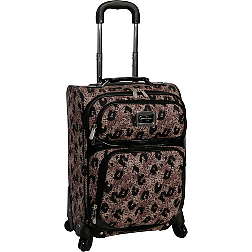 "Jessica Simpson Luggage Leopard 20"" Exp. Upright Khaki - Jessica Simpson Luggage Small Rolling Luggage"