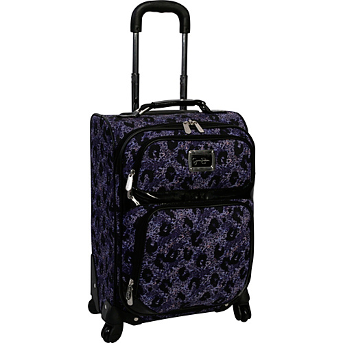 "Jessica Simpson Luggage Leopard 20"" Exp. Upright Purple - Jessica Simpson Luggage Small Rolling Luggage"