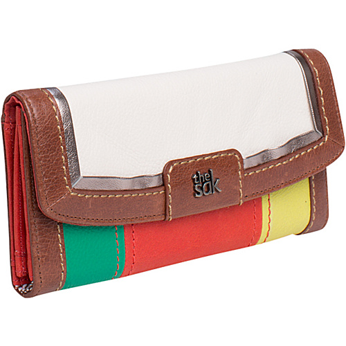 The Sak Iris Flap Wallet Stripe Multi - The Sak Ladies Clutch Wallets